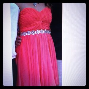 Strapless Short Formal Dress